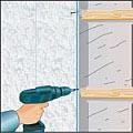 Монтаж пластиковых панелей шурупами на деревянный брус