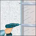 Монтаж пластиковых панелей шурупами на металлический профиль
